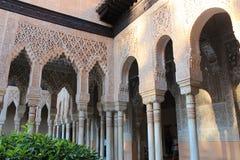 Alhambra Generalife am Sommer Spanisch, Architektur Lizenzfreie Stockfotos