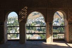 Alhambra Generalife am Sommer Spanisch, Architektur Stockfotos