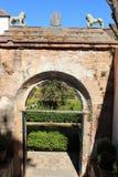 Alhambra Generalife am Sommer Spanisch, Architektur Lizenzfreies Stockfoto
