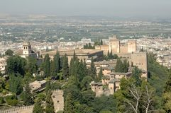 The alhambra in granada Stock Photo