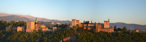 Alhambra in Granada Stock Foto's