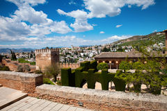 Alhambra Granada Royaltyfri Foto