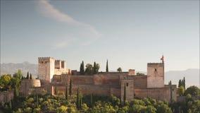 Alhambra granada stock video