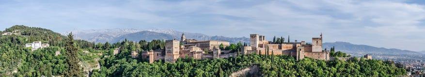 Alhambra a Granada Fotografia Stock Libera da Diritti
