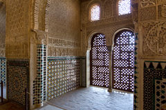 Alhambra of Granada, Andalusia, Spain. A beautiful detail of Alhambra in Granada, Andalusia, Spain Stock Photography