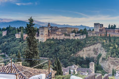 The Alhambra in Granada, Andalusia, Spain. Royalty Free Stock Photos