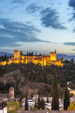 The Alhambra in Granada, Andalusia, Spain. Stock Photos