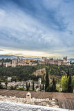 The Alhambra in Granada, Andalusia, Spain. Royalty Free Stock Photography
