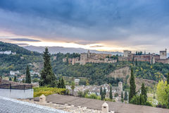 The Alhambra in Granada, Andalusia, Spain. Stock Image