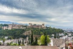 The Alhambra in Granada, Andalusia, Spain. Royalty Free Stock Images