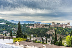 The Alhambra in Granada, Andalusia, Spain. Royalty Free Stock Photo