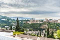 The Alhambra in Granada, Andalusia, Spain. Royalty Free Stock Image