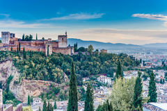 The Alhambra in Granada, Andalusia, Spain. stock images