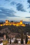 Alhambra in Granada, Andalusia, Spanje Stock Foto's