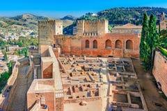 Alhambra, Granada, Andalusien, Spanien Stockfoto