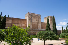 The Alhambra. In Granada city, Andalucia, Spain Royalty Free Stock Images