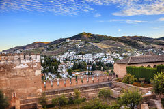 Alhambra Granada Cityscape Old Walls Andalusia Spain Royalty Free Stock Photography