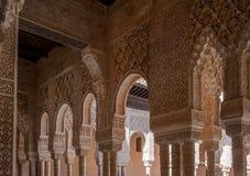 alhambra granada inre slott spain Fotografering för Bildbyråer