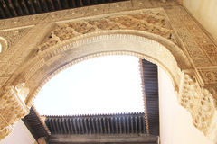 alhambra granada inre slott spain Royaltyfri Foto