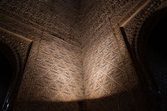 Alhambra of granada interior wall Royalty Free Stock Photos