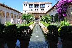 Alhambra, Granada - July 2014 Royalty Free Stock Images