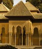 alhambra granada lionsuteplats spain Fotografering för Bildbyråer