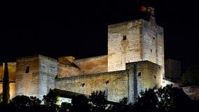 The Alhambra of Granada, night royalty free stock image