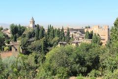 alhambra Granada pałac panoramy Spain widok Zdjęcie Royalty Free