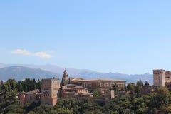 alhambra Granada pałac panoramy Spain widok Fotografia Royalty Free