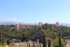 alhambra Granada pałac panoramy Spain widok Zdjęcia Royalty Free