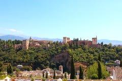 alhambra Granada pałac panoramy Spain widok Obrazy Stock