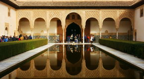 Alhambra, Granada. The Alhambra palace and fortress complex is located in Granada, Andalusia, Spain. It was originally constructed as a small fortress in 889 and Royalty Free Stock Photography