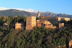 Alhambra in Granada. The Alhambra palace in Granada, Spain royalty free stock photo