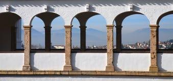 alhambra granada sikt Arkivbilder