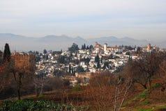alhambra granada sikt royaltyfria foton