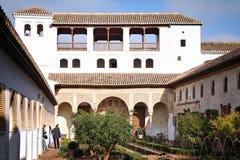 alhambra granada slott Arkivfoton