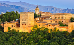 alhambra granada slott spain Royaltyfri Fotografi