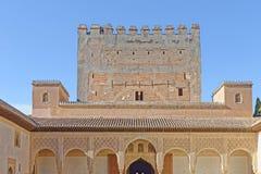 alhambra granada slott spain Fotografering för Bildbyråer
