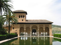 The Alhambra, Granada, Spain. Palacio del Partal at the Alhambra Royalty Free Stock Image