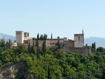 The Alhambra in Granada, Spain Royalty Free Stock Image