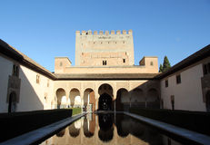 Alhambra in Granada Spain Royalty Free Stock Photos