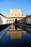 Alhambra in Granada Spain. Alhambra Granada Spain reflection pool architecture fascinating monumental complex where nature and architecture exist side by side royalty free stock images