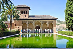 Alhambra, Granada, Spain. Tourists at one of Spains most visited tourist destinations, the Alhambra in Granada, Spain, which is an UNESCO World Heritage site stock photos