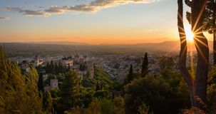 Alhambra Granada Spain. Beautiful historic palace, is the most visited place in Spain by tourists. stock image