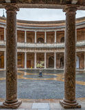 Alhambra, Granada, Spain - Charles V Palace Interior Stock Image