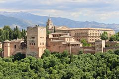 Alhambra in Granada, Spain Stock Image