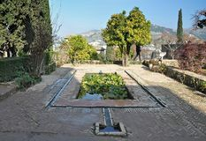Alhambra of Granada-Spain stock photo