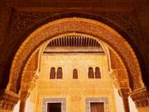 Alhambra in Granada, Spain. Palacios Nazaries in Alhambra in Granada, Andalusia, Spain Royalty Free Stock Images