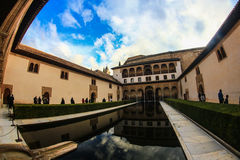 Alhambra, Granada. Spain. Patio of the palace Stock Image