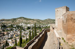 Alhambra - Granada - Spain. Alhambra Walls in Granada - Spain Royalty Free Stock Photography